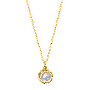 Moonstone gemstone pendant 18k yellow gold - fancy basket style by Heirloom by Doyle & Doyle 093145n