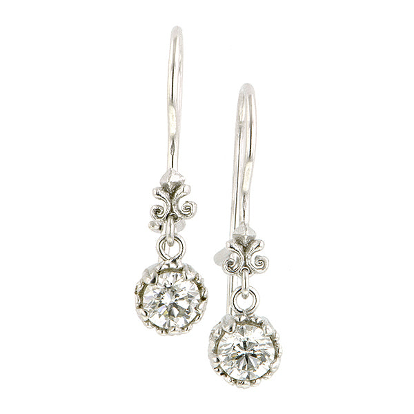 Fancy Basket Diamond Drop Earrings- Heirloom by Doyle & Doyle