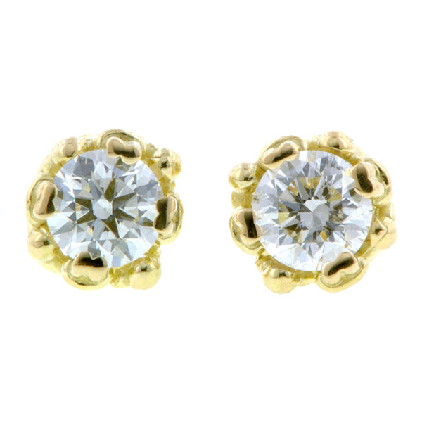 Fancy Basket Diamond Stud Earrings- Heirloom by Doyle & Doyle