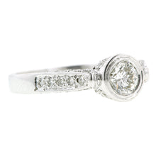 Bezel Set RBC .40ct Pave Set Engagement Ring