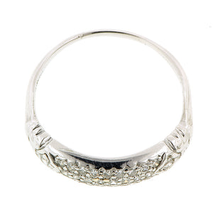 Art Deco Pave Set Platinum Band