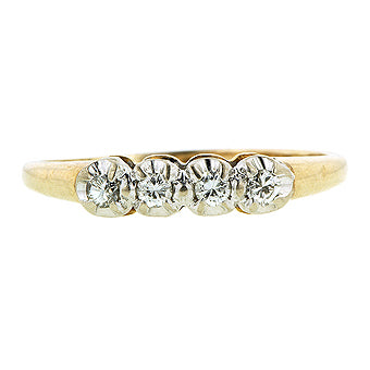 Vintage Diamond Gold Wedding Band Ring sold by Doyle & Doyle vintage and antique jewelry boutique