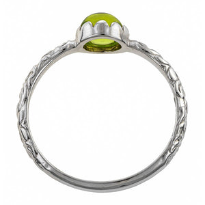 Peridot Cabochon Solitaire Ring- Heirloom by Doyle & Doyle