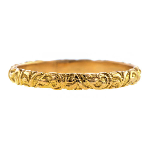 Scrolling Pattern Wedding Band Ring, Heirloom by Doyle & Doyle