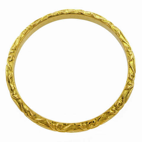 Fleur Patterned Gold Band- Heirloom by Doyle & Doyle