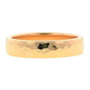 Hammered Ellipse Wedding Band, Rose Gold, sold by Doyle & Doyle vintage and antique jewelry boutique.