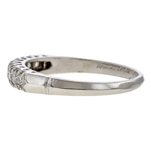Vintage ring: a Platinum Single Cut Diamonds Wedding Band sold by Doyle & Doyle vintage and antique jewelry boutique.