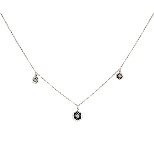 Three Hex Diamond Necklace- Heirloom by Doyle & Doyle::