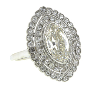 Edwardian Marquise Diamond Framed Ring, MRQ 1.85ct::Doyle & Doyle