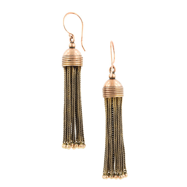 Antique Gold Tassel Earrings:: Doyle & Doyle