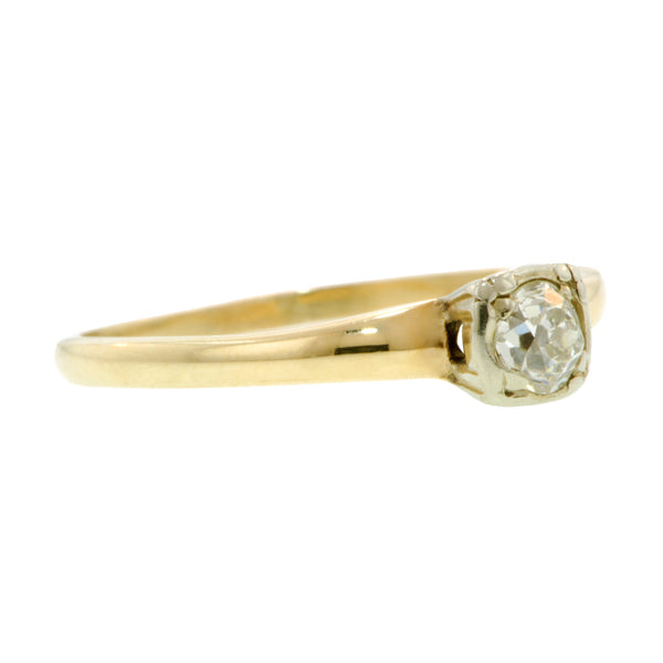 Diamond Solitaire Ring, Old Mine 0.20ct::Doyle & Doyle