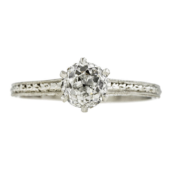 Estate Engagement Ring, Old Euro 0.71ct::Doyle & Doyle