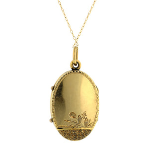 Victorian Engraved Oval Locket