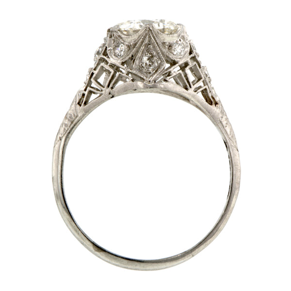 Edwardian Filigree Engagement Ring, RBC 1.16ct:: Doyle $ Doyle