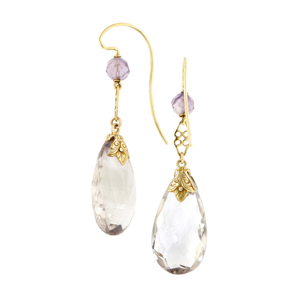 Vintage Amethyst Drop Earrings