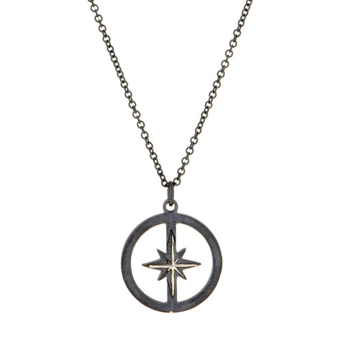 D&D Compass Rose Pendant, West 13th Collection, Doyle & Doyle