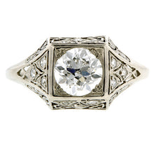 Vintage Diamond Ring, RBC 1.08ct