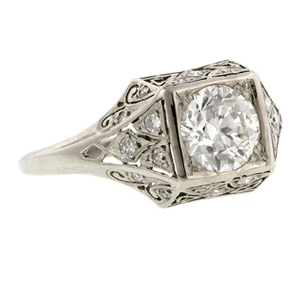 Vintage Engagement Ring, RBC Diamond, sold by Doyle & Doyle an antique and vintage jewelry store.