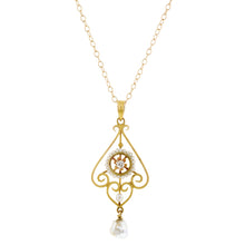 Edwardian Diamond & Pearl Pendant