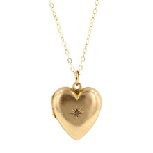 Antique Diamond Heart Locket