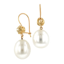 South Sea Pearl* & Diamond Drop Earrings