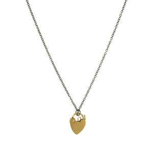 Vintage Heart Padlock Necklace