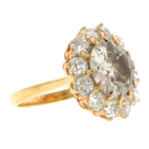 Antique Diamond Cluster Ring, Old Euro 4.00ct