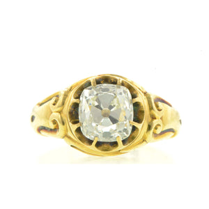 Victorian Old Mine Cut Diamond Engagement Ring, Old Mine 2.50ct