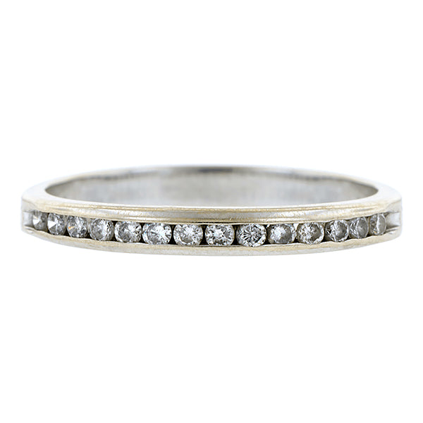 Estate Diamond Wedding Band Ring