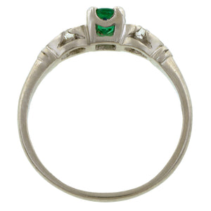 Vintage Emerald & Diamond Ring