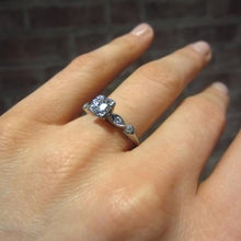 Vintage Diamond Engagement Ring, RBC 0.58ct