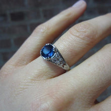 Art Deco Sapphire and Diamond Ring, 1.66ct