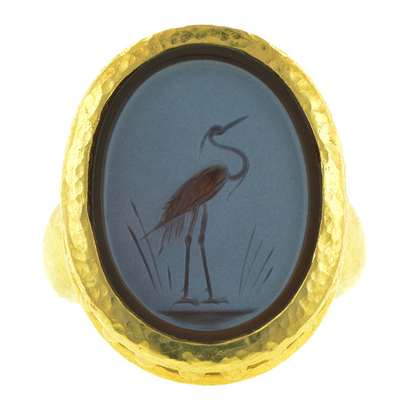 Estate Elizabeth Locke Intaglio Ring