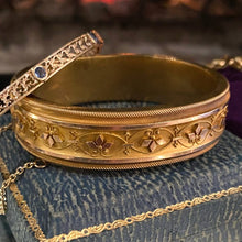 Victorian Etruscan Revival Bangle Bracelet from Doyle & Doyle