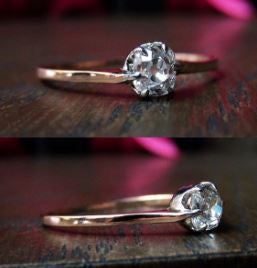 Antique Diamond Solitaire Engagement Ring, Old Mine 0.31ct
