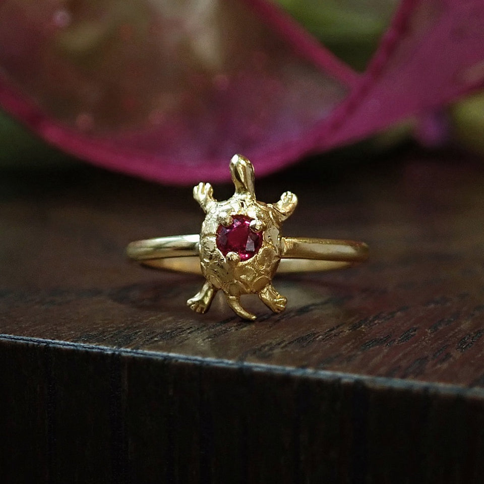 Antique Ruby Turtle Ring