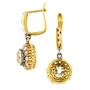 Antique Diamond Drop Earrings