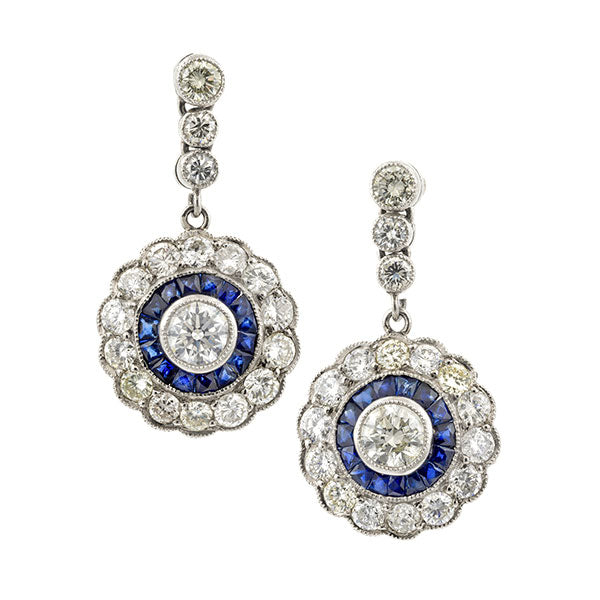 Estate Diamond Drop Earrings