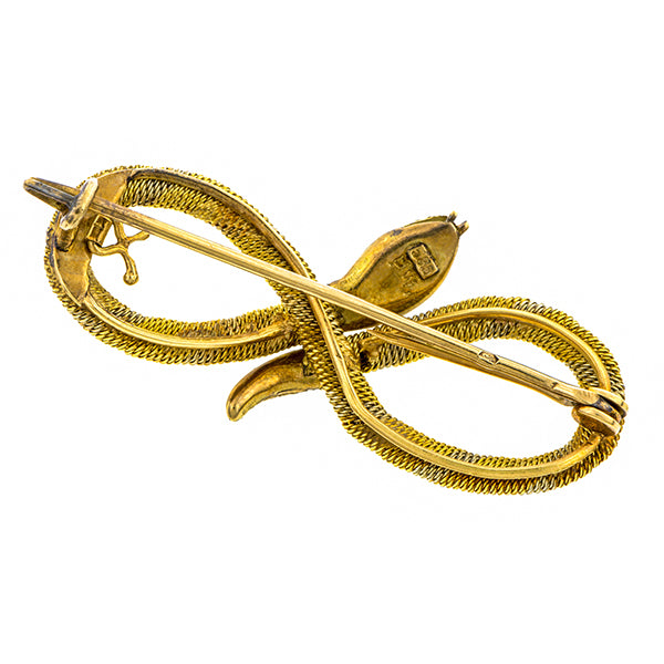 Art Deco Snake Pin