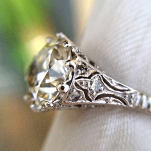 Edwardian Diamond Engagement Ring, TRB 3.00ct