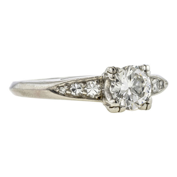 Vintage Diamond Engagement Ring, TRB 0.60ct