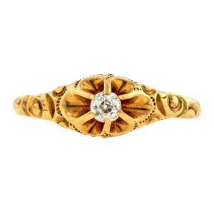 Victorian Diamond Baby Ring