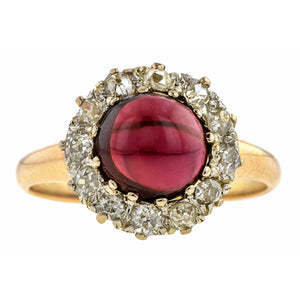 Antique Garnet & Diamond Ring