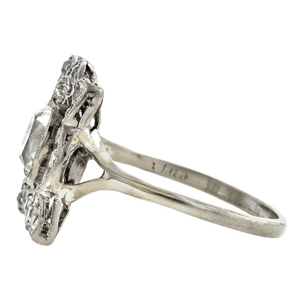 Edwardian Engagement Ring, Cushion 1.12ct