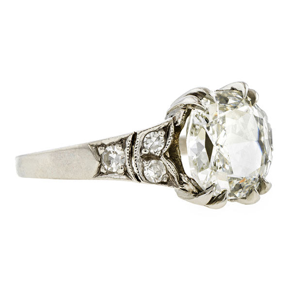 Vintage Engagement Ring, Cushion 2.05ct