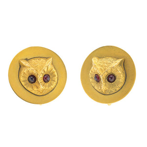 Antique Owl Earrings