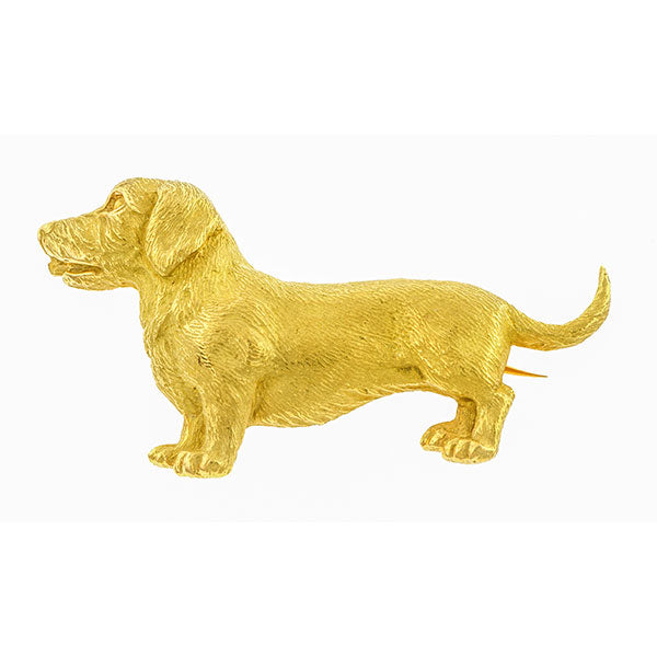 Vintage Tiffany & Co. Dog Pin