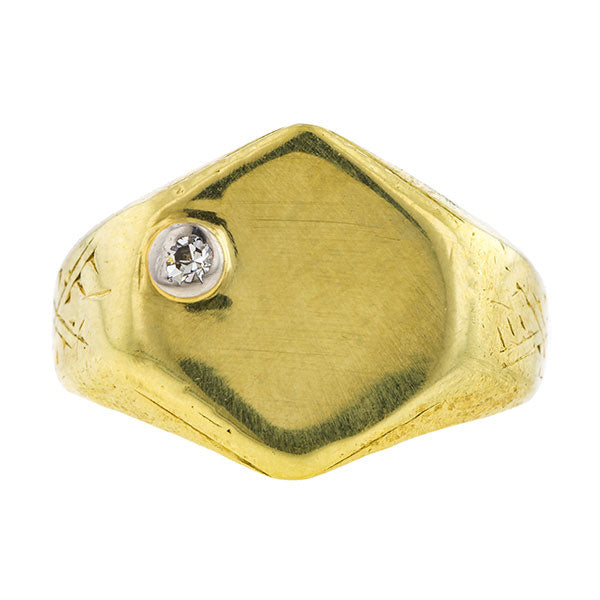Antique Diamond Signet Ring