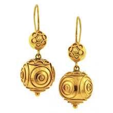 Etruscan Revival Drop Earrings