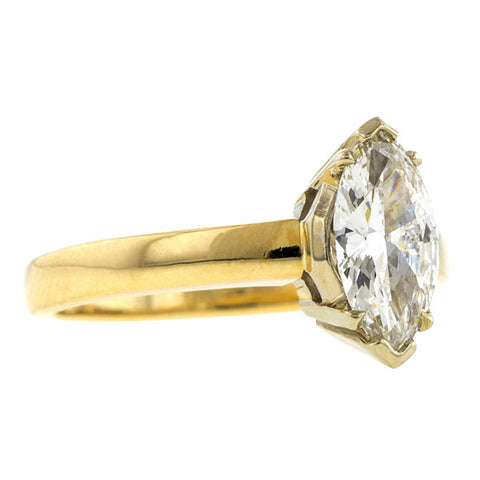 Vintage Marquise Solitaire Engagement Ring, 0.74ct